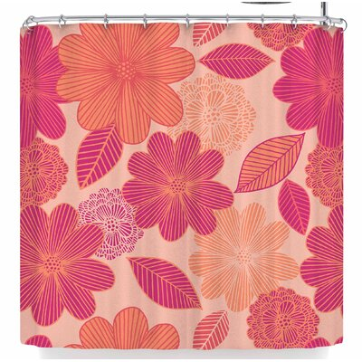 Julia Grifol Lovely Flowers Shower Curtain