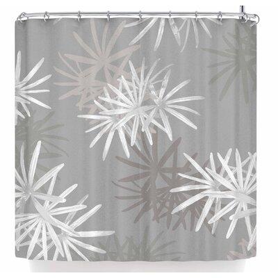 Julia Grifol White Paradise Flowers Shower Curtain