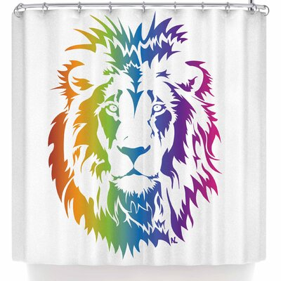 Nl Designs Rainbow Lion Shower Curtain