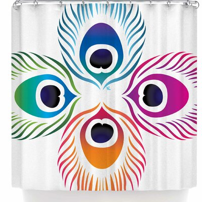 Nl Designs Peacock Feathers Shower Curtain