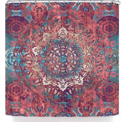Nina May Magi Mandala Rose Gold Shower Curtain Color: Rose Gold