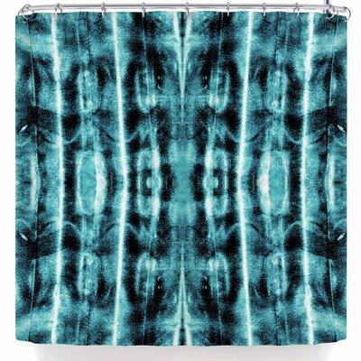Nina May Vertical Shibori Shower Curtain