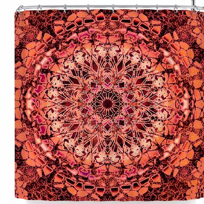 Nina May Lace Mandalas Shower Curtain Color: Orange