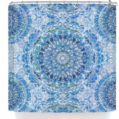Nina May Lace Mandalas Shower Curtain Color: Blue