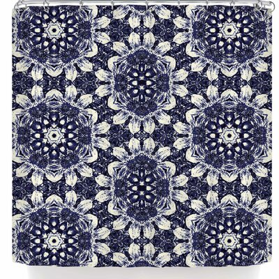 Nina May Indigo Clematis Shower Curtain