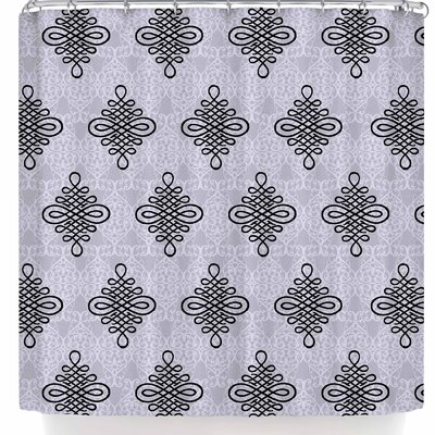 Nl Designs Damask Shower Curtain Color: Blue