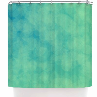 Nl Designs Bokeh Shower Curtain Color: Light Green