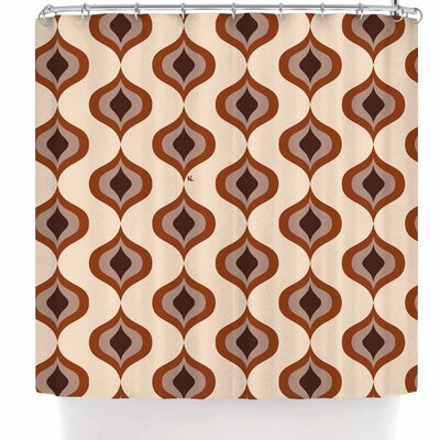 Nl Designs Retro Shower Curtain