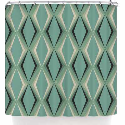 Nl Designs Retro Diamond Shower Curtain