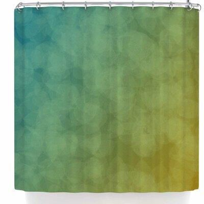 Nl Designs Bokeh Shower Curtain Color: Blue/Orange