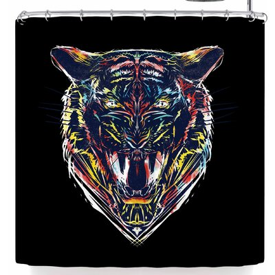 Frederic Levy-Hadida Stencil Tiger 3 Shower Curtain