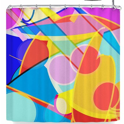 Frederic Levy-Hadida Overloaded 2 Shower Curtain Color: Pink/Yellow