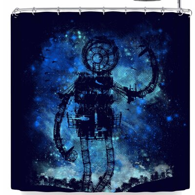Frederic Levy-Hadida Mad Robot Shower Curtain