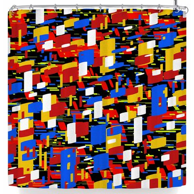 Frederic Levy-Hadida Speed Digits Shower Curtain