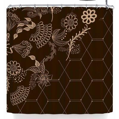 Famenxt Flora Summer Polygon Coffee Shower Curtain