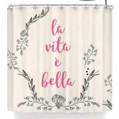 Famenxt Life Is Beautiful Vintage Shower Curtain