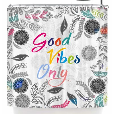 Famenxt Good Vibes Only Shower Curtain