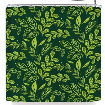 Famenxt Fresh Leaves Shower Curtain