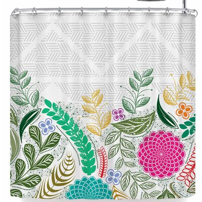Famenxt Floral Geometric Shower Curtain