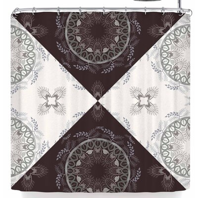 Famenxt Cocoa Mandala Shower Curtain