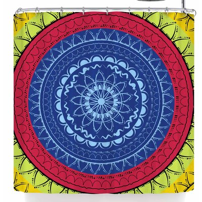 Famenxt Sunshine Mandala Shower Curtain