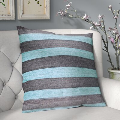 Boutin Stripes Throw Pillow Color: Sea Blue