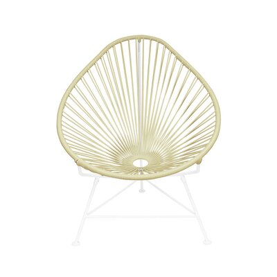 Borquez Papasan Chair Upholstery: Wheat, Color: White