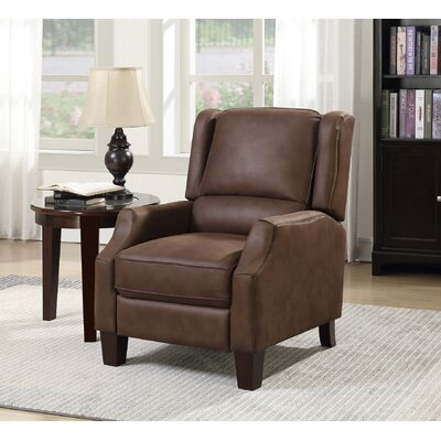 Stockwood Manual No Motion Recliner Upholstery: Dark Tobacco