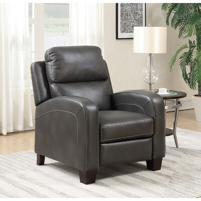 Wiggs Manual No Motion Recliner Upholstery: Gray