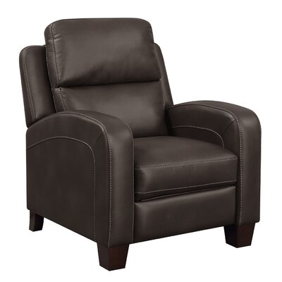 Wiggs Manual No Motion Recliner Upholstery: Chocolate Brown