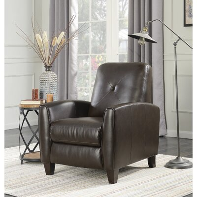 Wight Manual No Motion Recliner Upholstery: Chocolate Brown