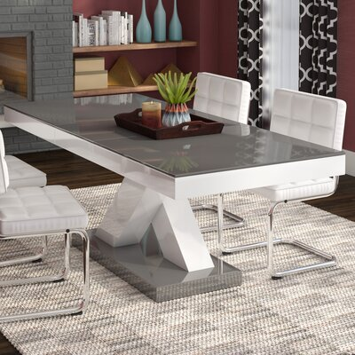 Walkersville Leaf Dining Table Finish: Gray/White