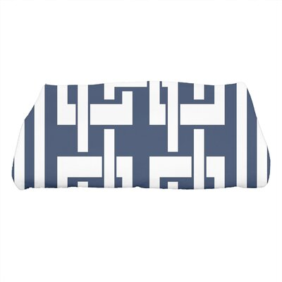 Harriet Geometric Print Bath Towel Color: Navy Blue