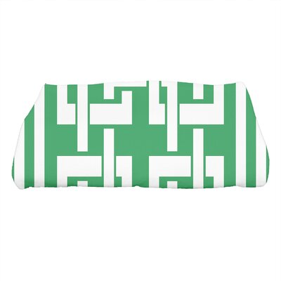 Harriet Geometric Print Bath Towel Color: Green