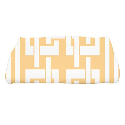 Harriet Geometric Print Bath Towel Color: Yellow