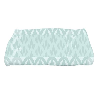 Harriet Geometric Print Bath Towel Color: Aqua