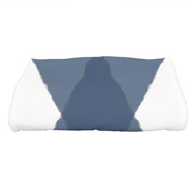 Harriet X Marks the Spot Geometric Print Bath Towel Color: Navy Blue