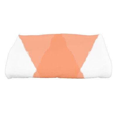 Harriet X Marks the Spot Geometric Print Bath Towel Color: Orange