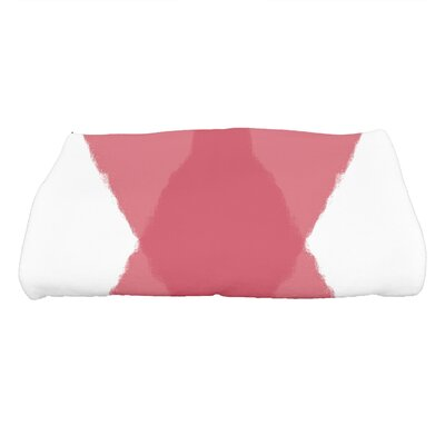 Harriet X Marks the Spot Geometric Print Bath Towel Color: Red