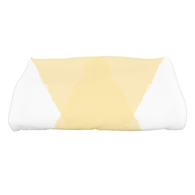 Harriet X Marks the Spot Geometric Print Bath Towel Color: Yellow