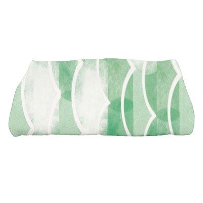 Harriet Geometric Print Bath Towel Color: Green