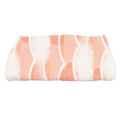 Harriet Geometric Print Bath Towel Color: Orange