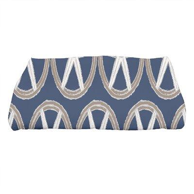 London Geometric Print Bath Towel Color: Navy Blue