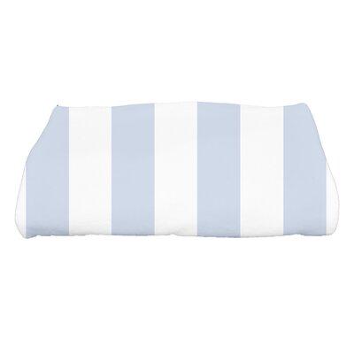 Harriet Rugby Stripe Print Bath Towel Color: Blue