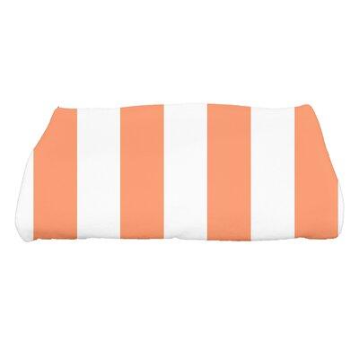 Harriet Rugby Stripe Print Bath Towel Color: Orange