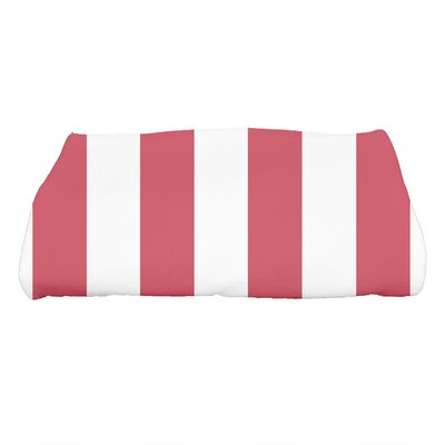 Harriet Rugby Stripe Print Bath Towel Color: Red