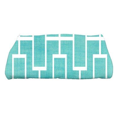 Sailer Lattice Geometric Print Bath Towel Color: Blue