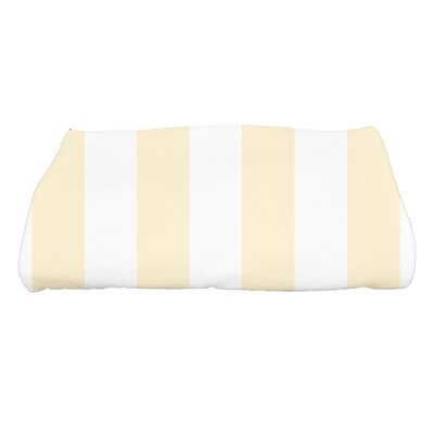 Harriet Rugby Stripe Print Bath Towel Color: Yellow