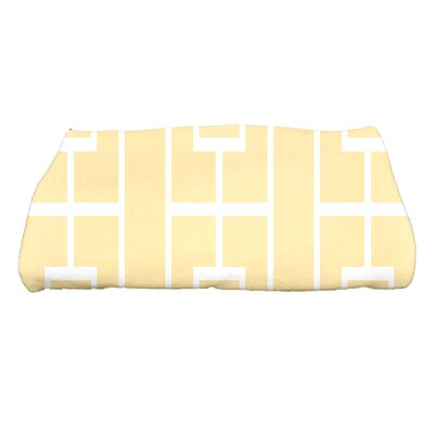 Sailer Lattice Geometric Print Bath Towel Color: Yellow