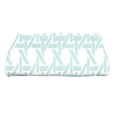 Sailer Rattan Geometric Print Bath Towel Color: Pale Blue